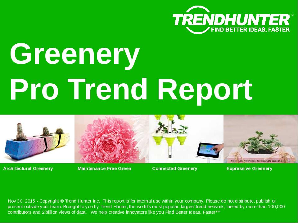 Greenery Trend Report Research