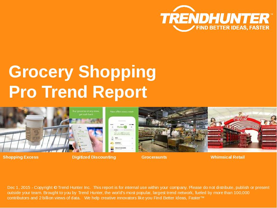 Grocery Shopping Trend Report Research
