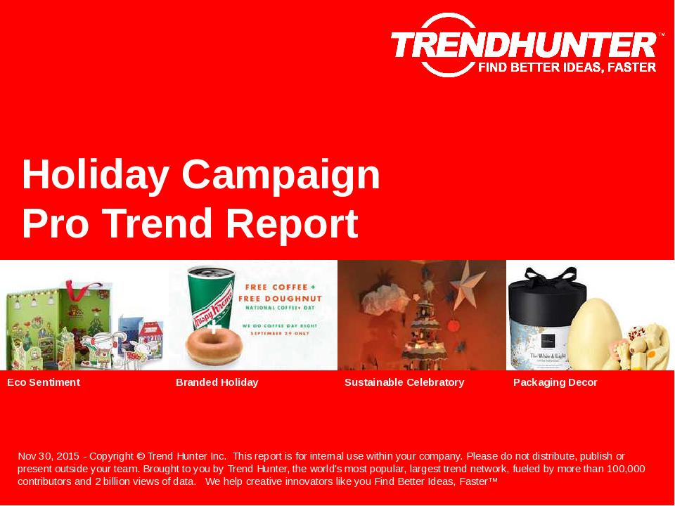 Holiday Campaign Trend Report Research