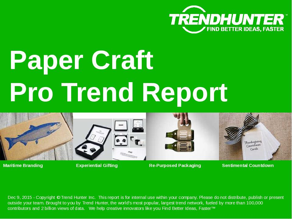 Paper Craft Trend Report Research