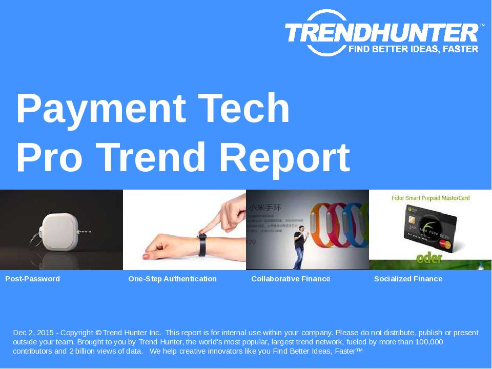 Payment Tech Trend Report Research