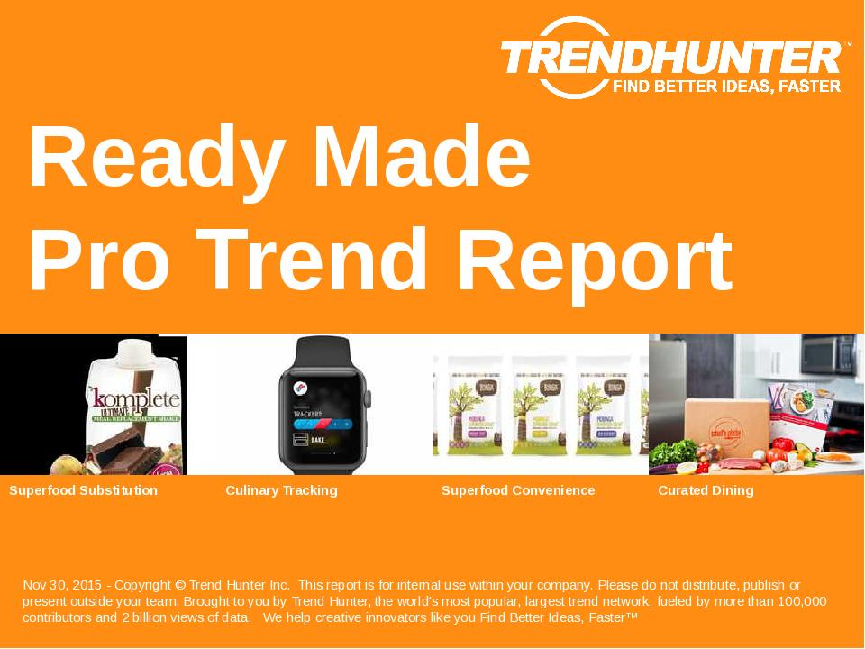 Ready Made Trend Report Research