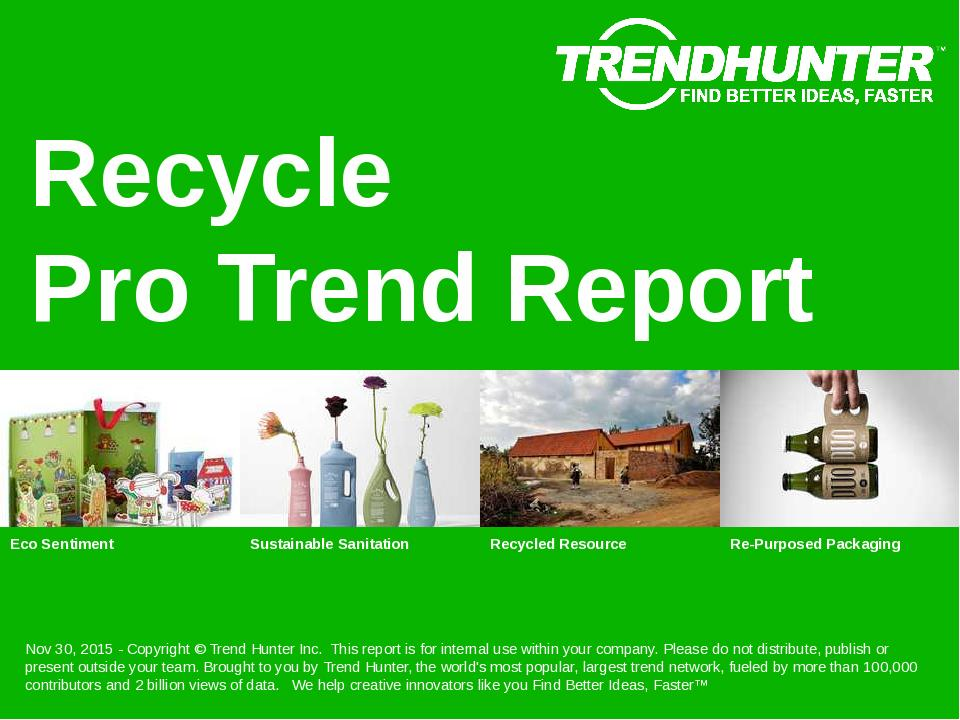 Recycle Trend Report Research