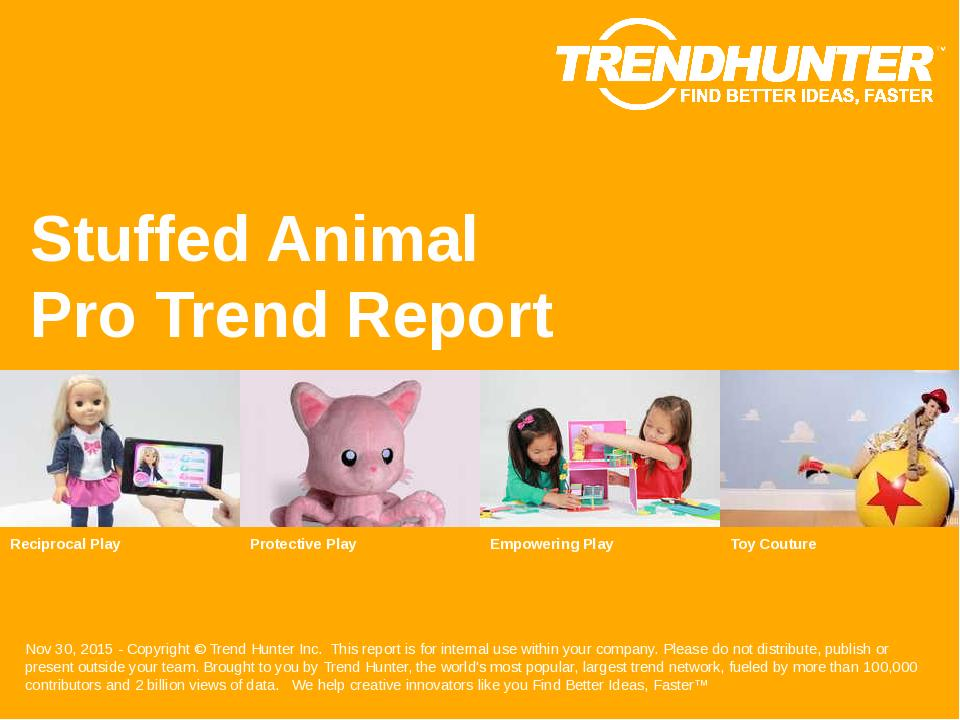 Stuffed Animal Trend Report Research