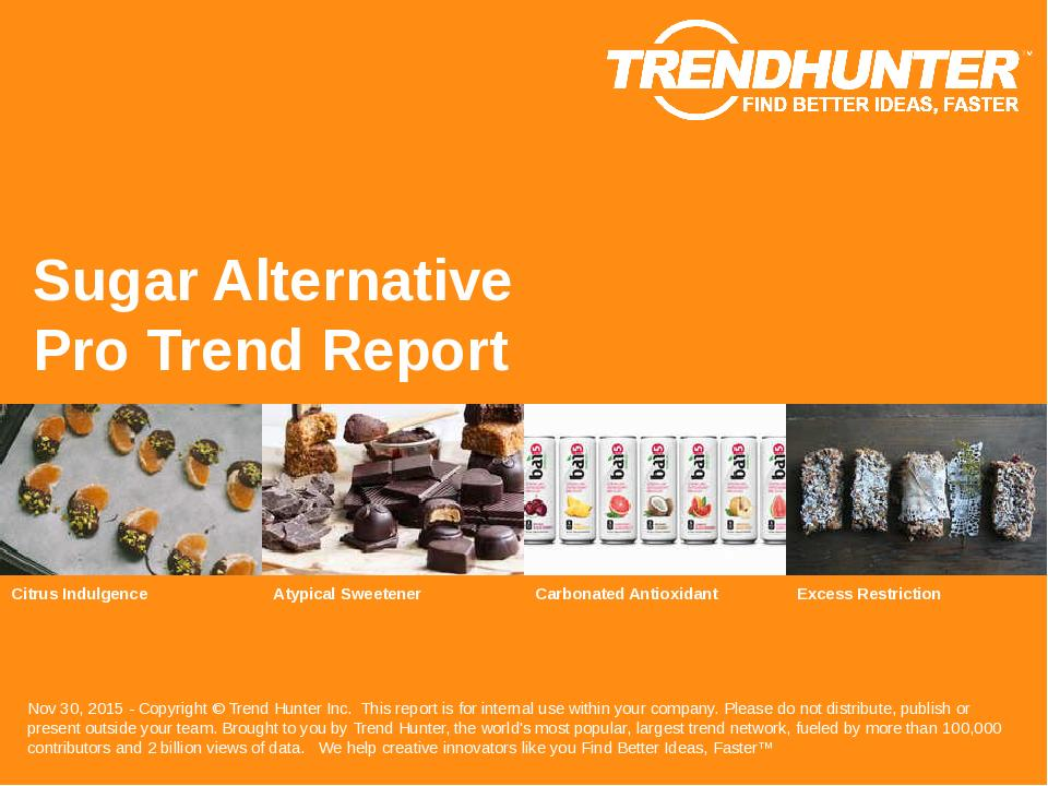 Sugar Alternative Trend Report Research