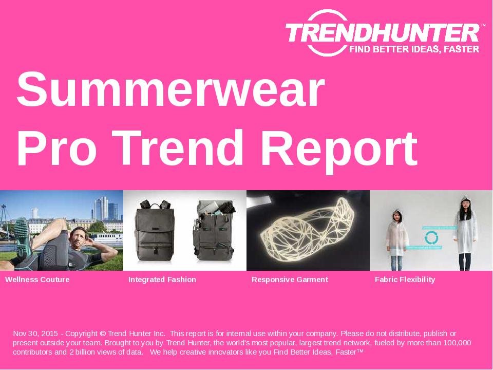 Summerwear Trend Report Research