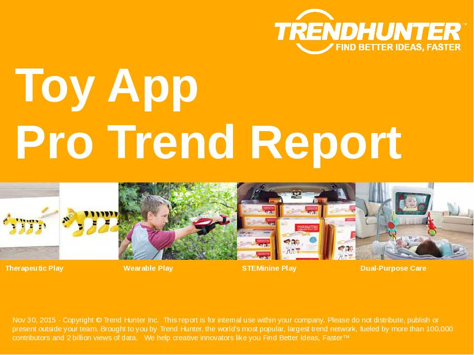 Toy App Trend Report Research