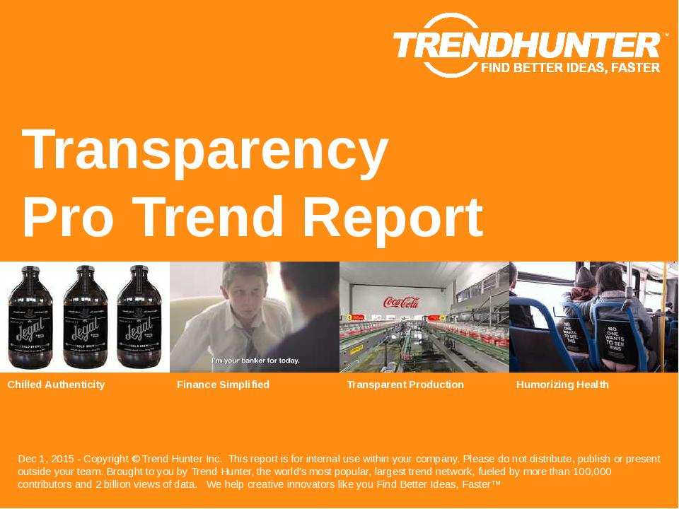 Transparency Trend Report Research