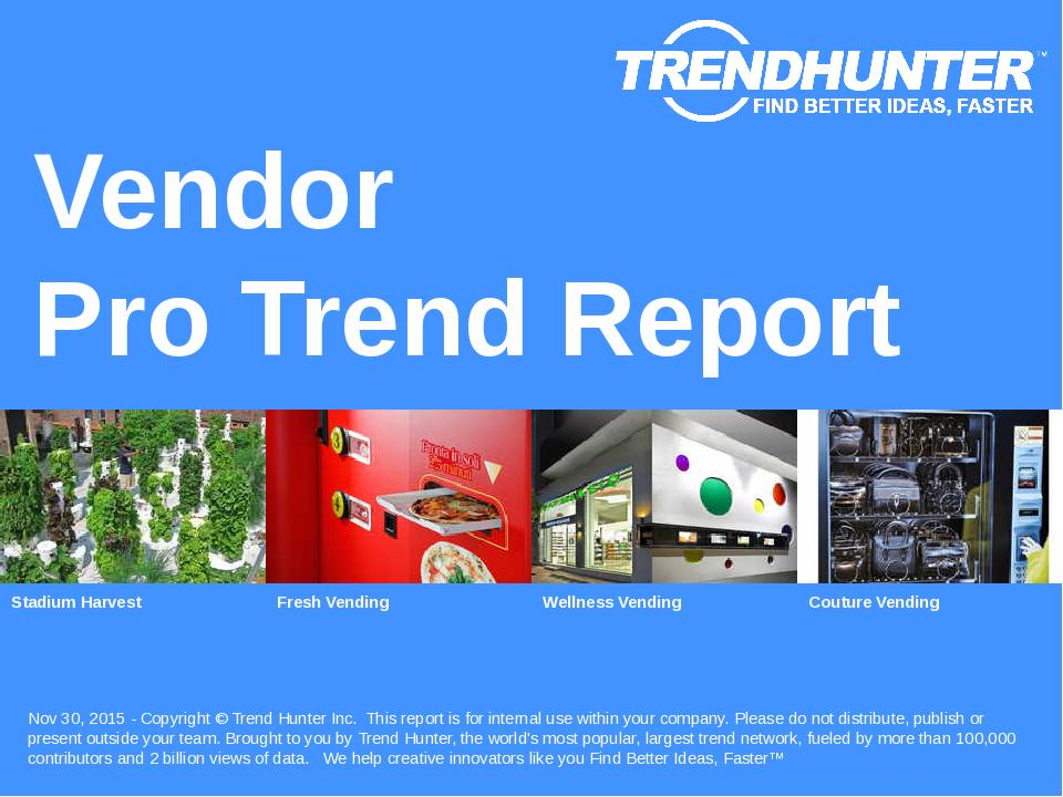 Vendor Trend Report Research