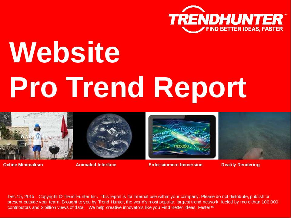 Website Trend Report Research