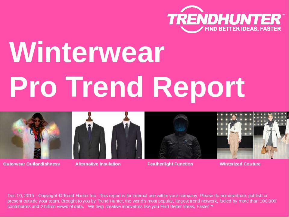 Winterwear Trend Report Research