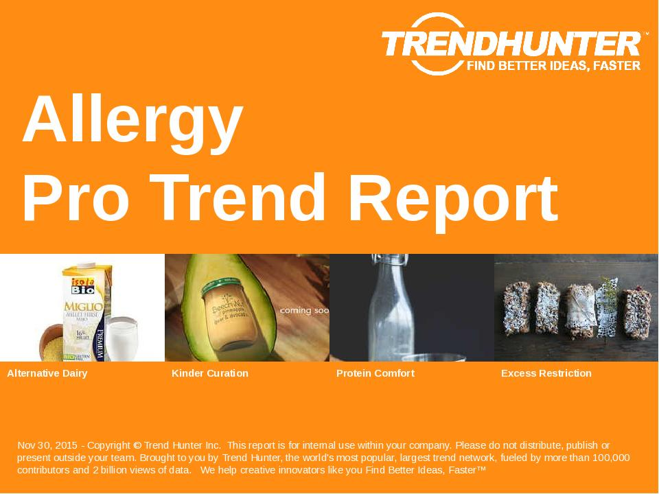 Allergy Trend Report Research