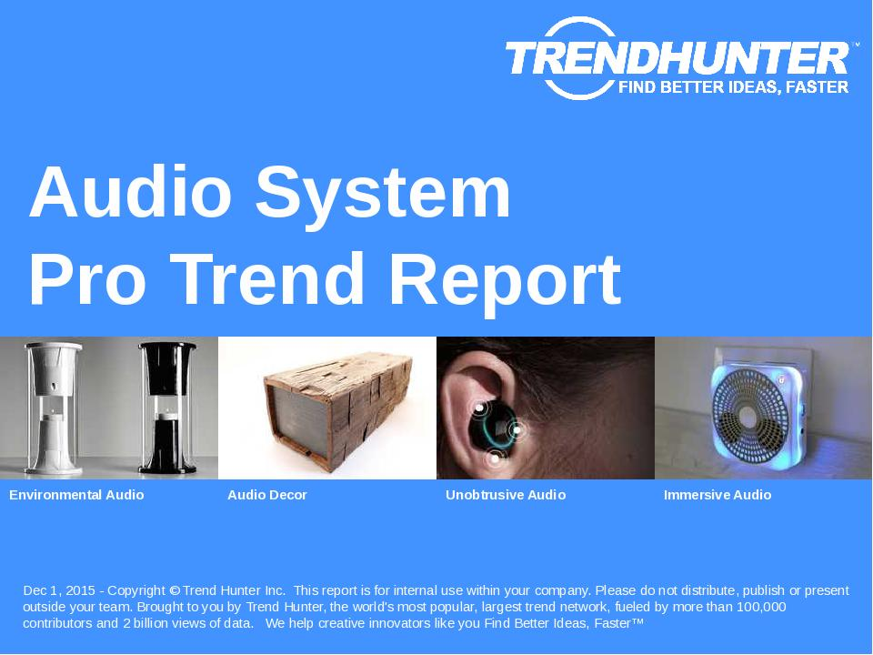 Audio System Trend Report Research