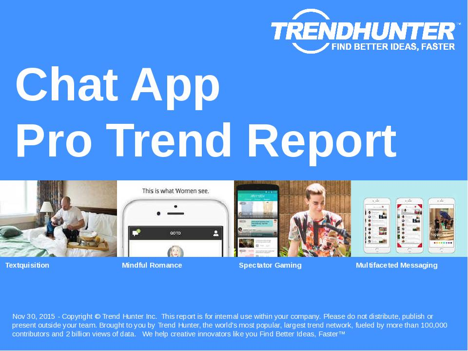 Chat App Trend Report Research
