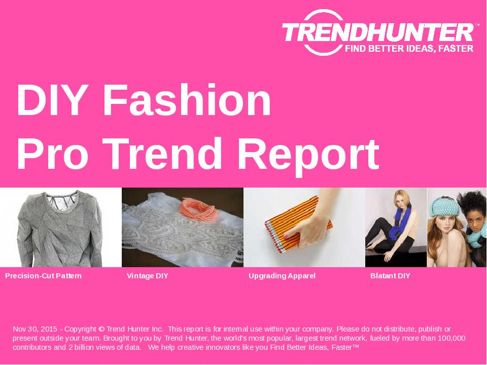 DIY Fashion Trend Report Research