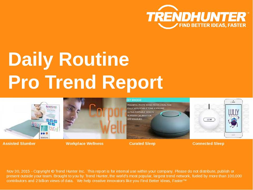 Daily Routine Trend Report Research