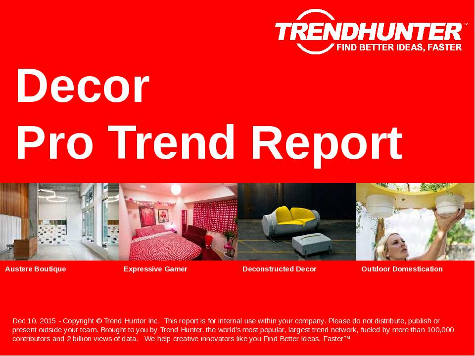 Decor Trend Report Research
