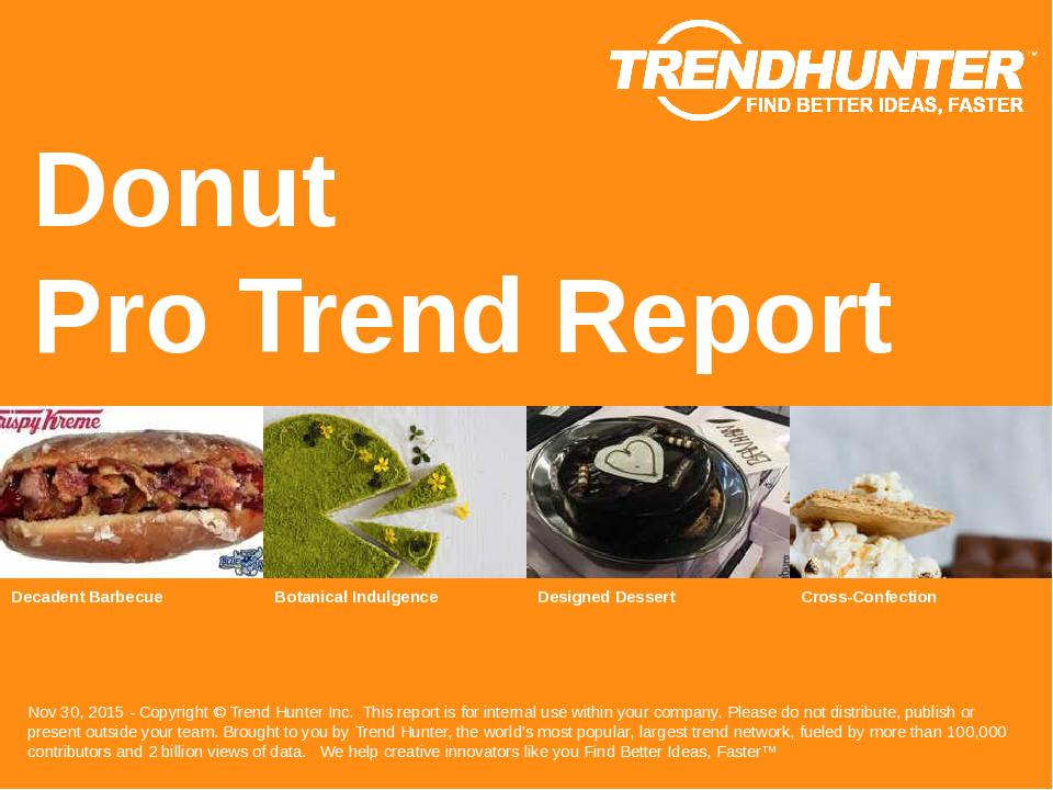 Donut Trend Report Research
