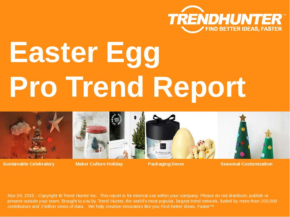 Easter Egg Trend Report Research