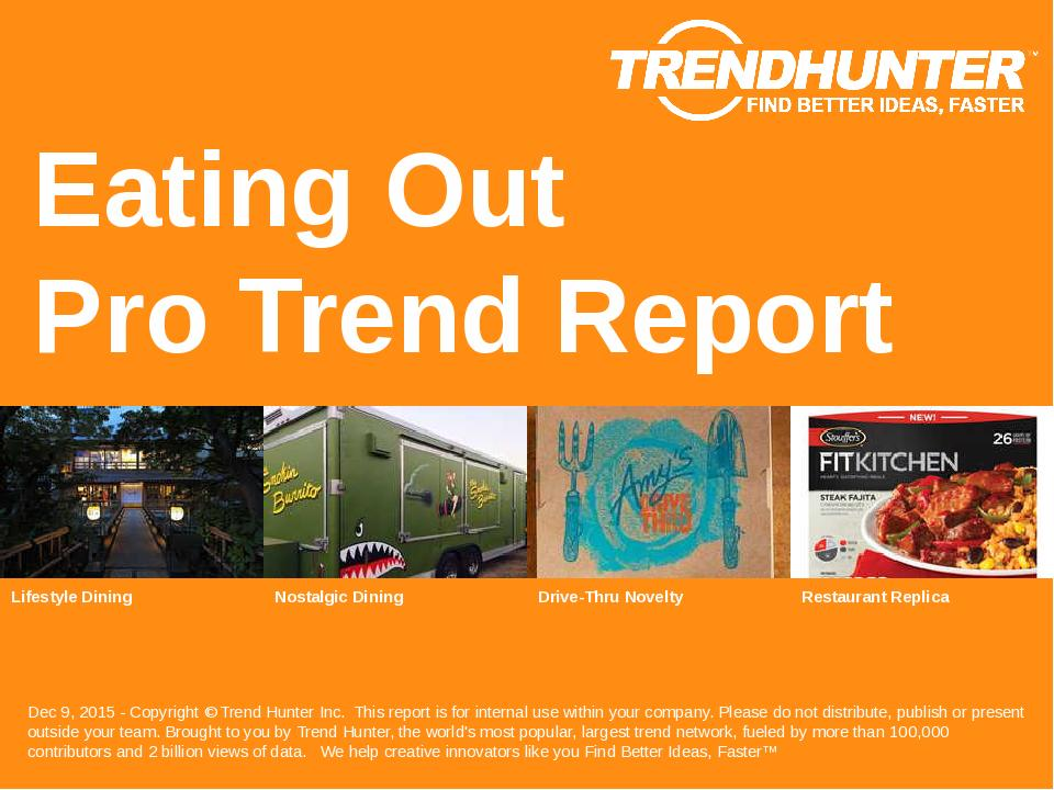 Eating Out Trend Report Research