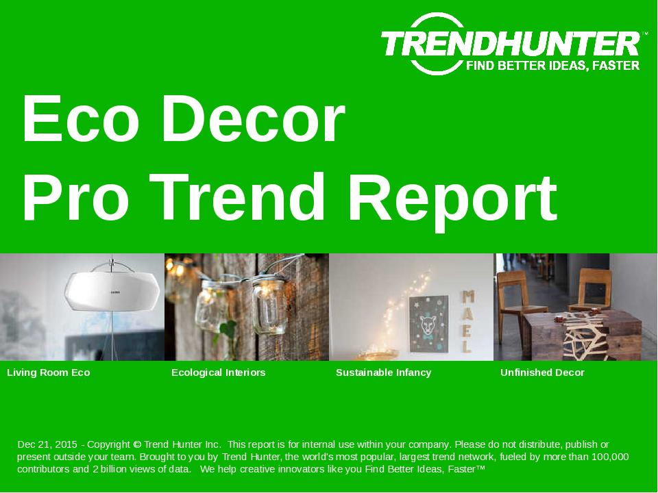 Eco Decor Trend Report Research