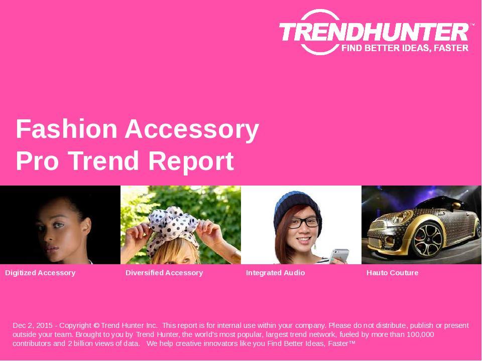 Fashion Accessory Trend Report Research