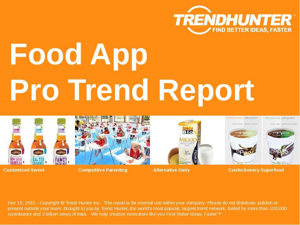 Food App Trend Report Research