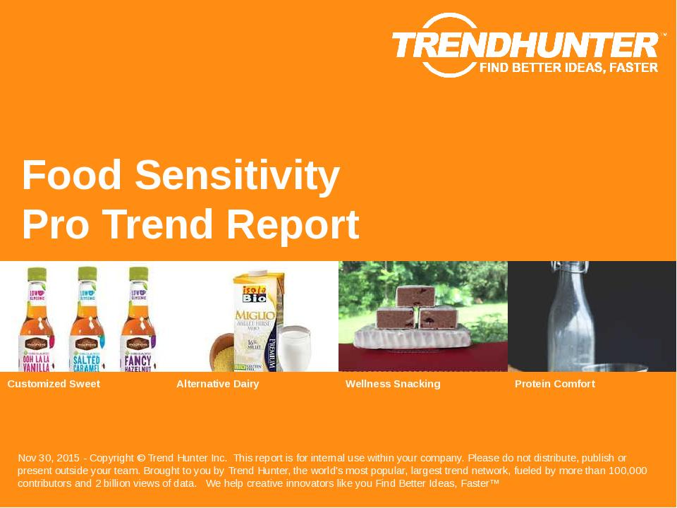 Food Sensitivity Trend Report Research