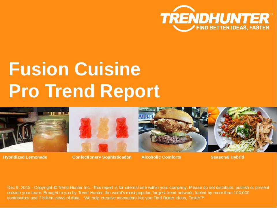 Fusion Cuisine Trend Report Research