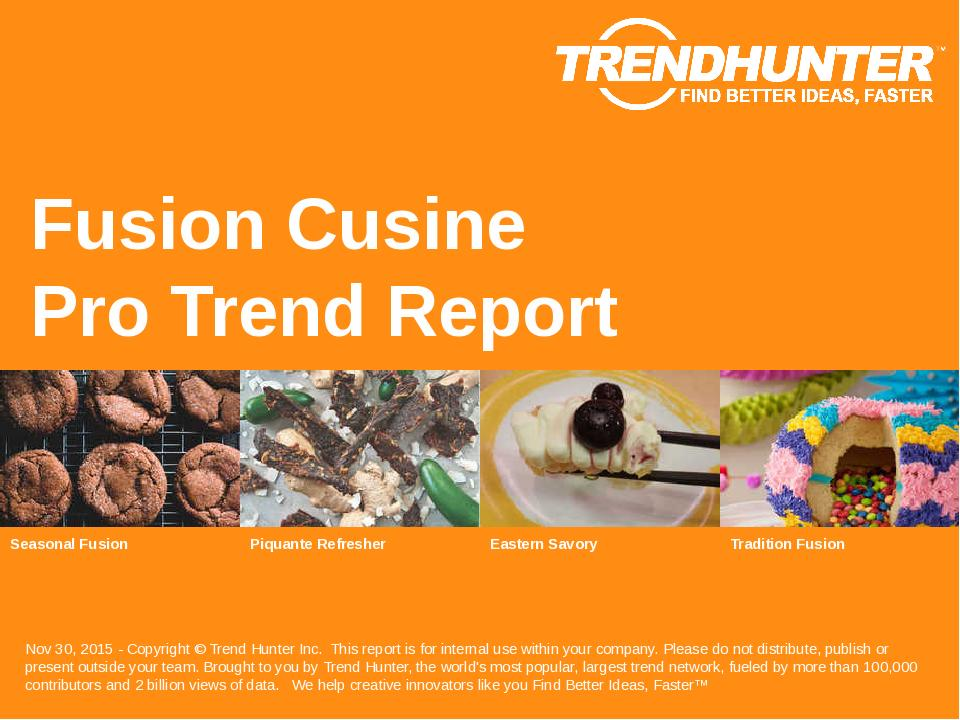 Fusion Cusine Trend Report Research