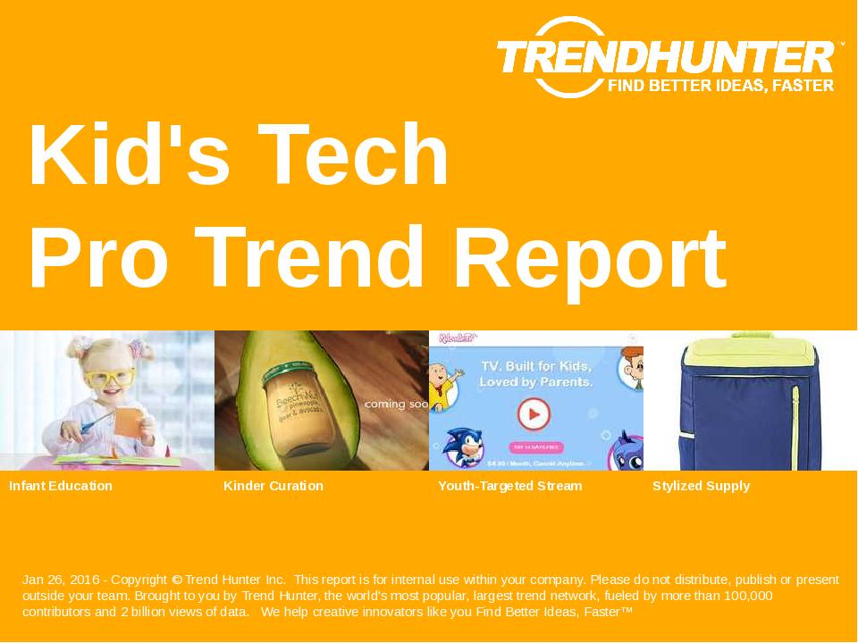 Kids Tech Trend Report Research