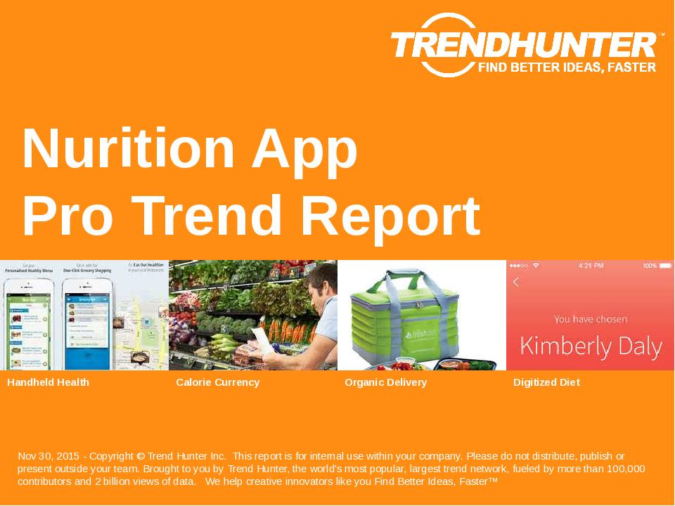 Nurition App Trend Report Research