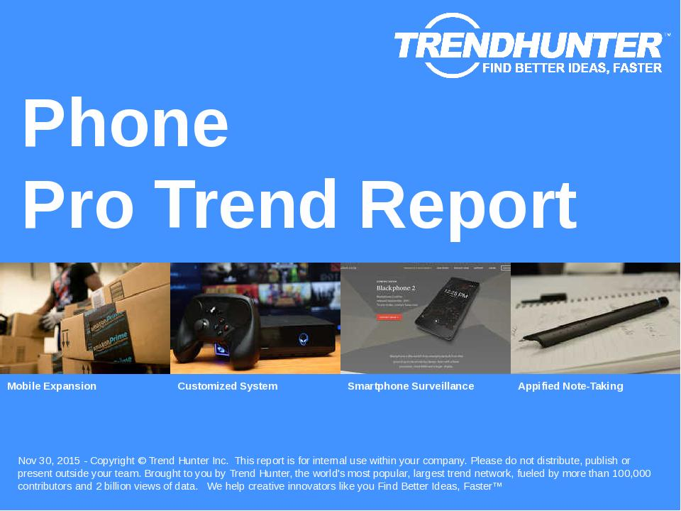 Phone Trend Report Research