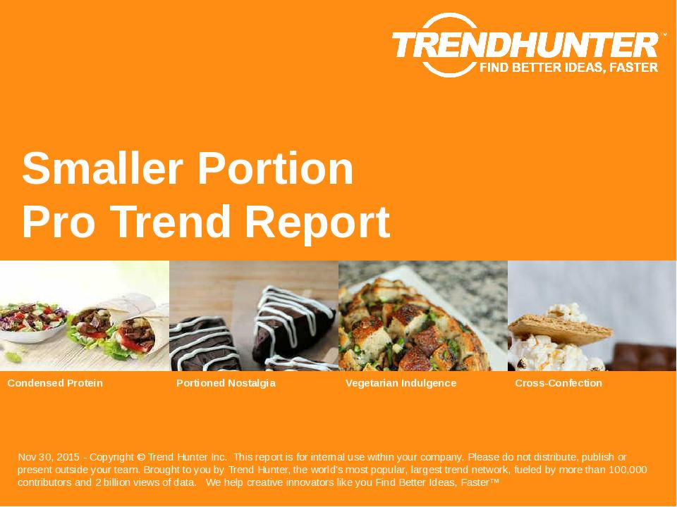 Smaller Portion Trend Report Research