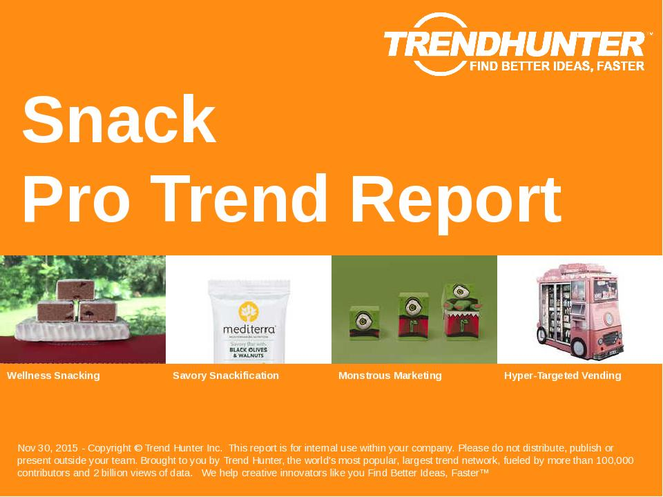 Snack Trend Report Research