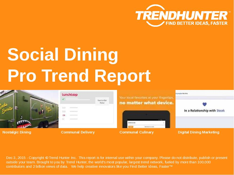 Social Dining Trend Report Research