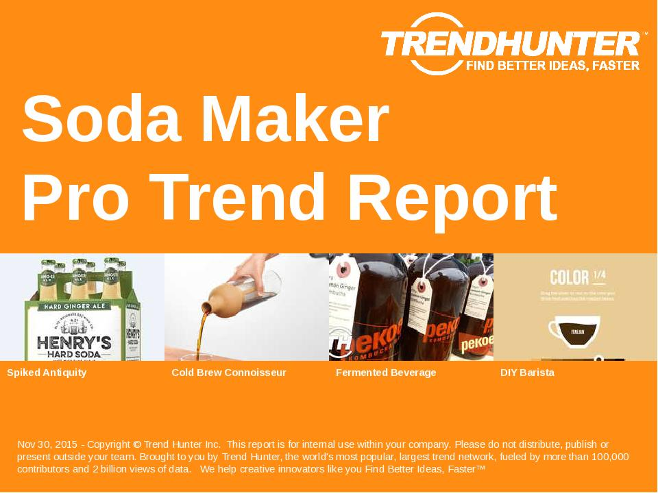 Soda Maker Trend Report Research