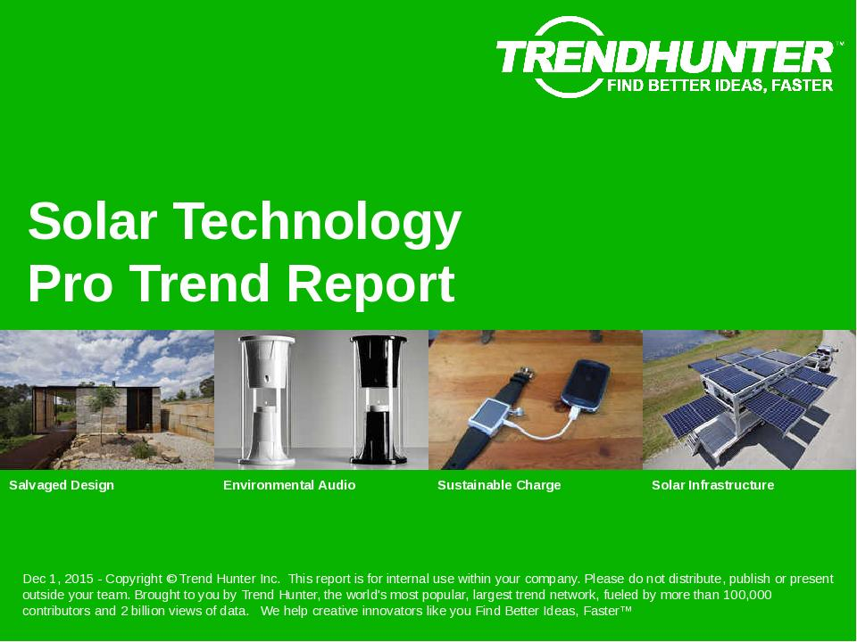 Solar Technology Trend Report Research