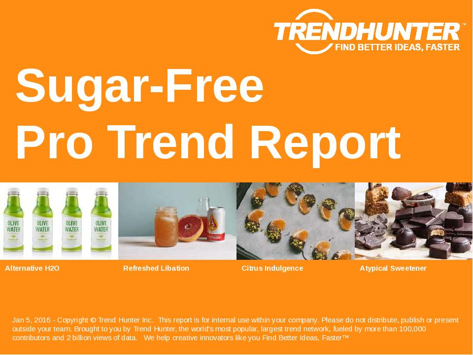 Sugar Free Trend Report Research