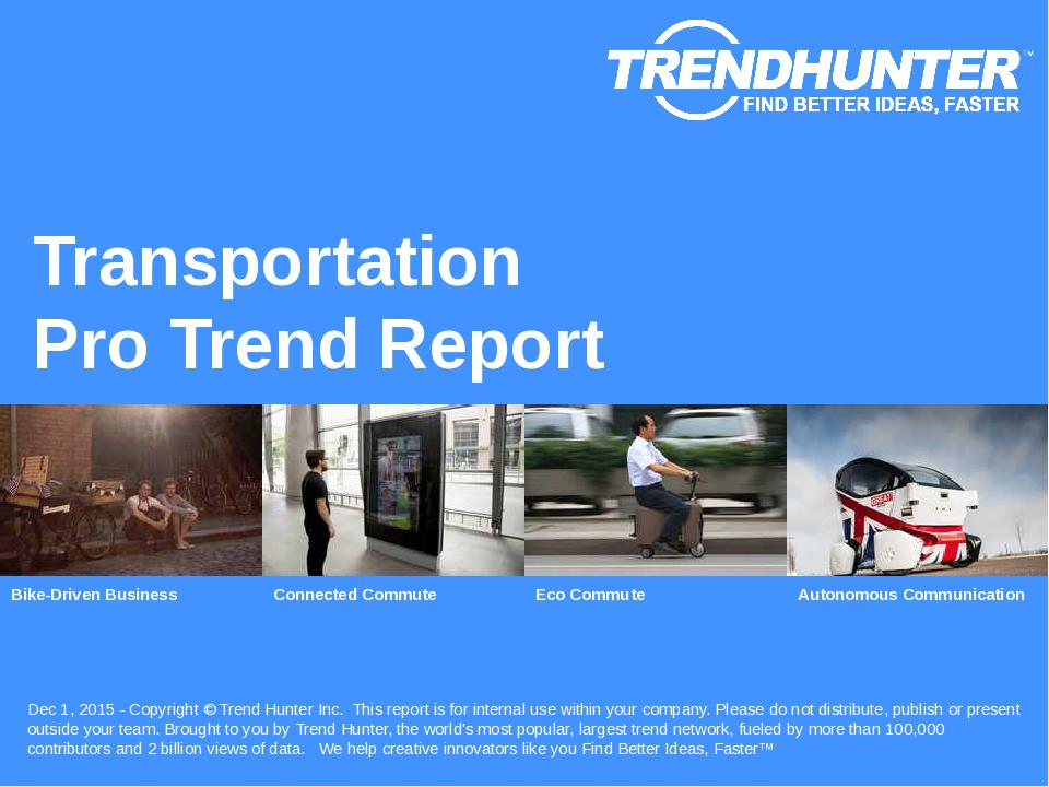 Transportation Trend Report Research