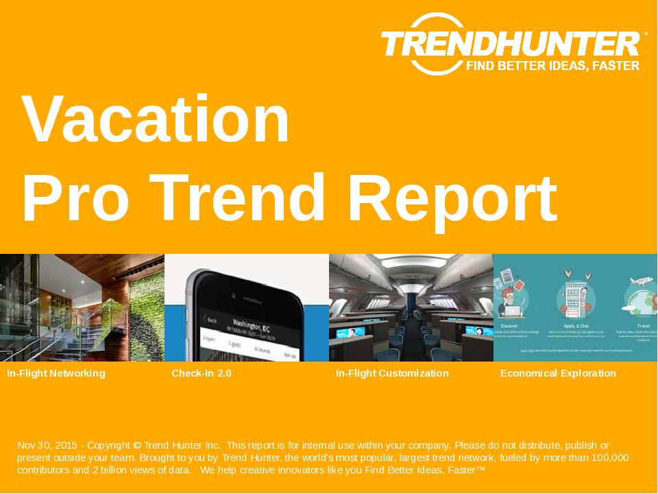 Vacation Trend Report Research