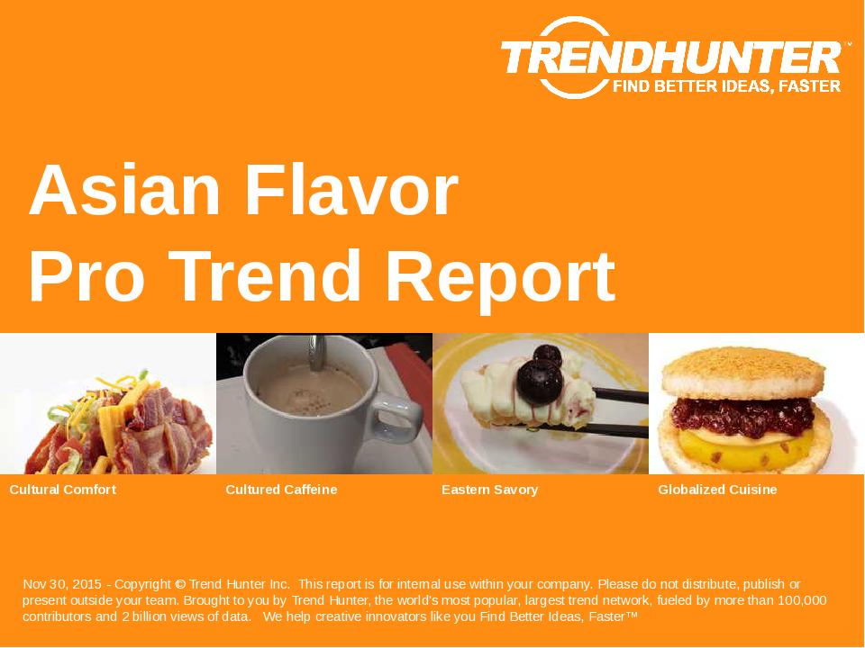 Asian Flavor Trend Report Research
