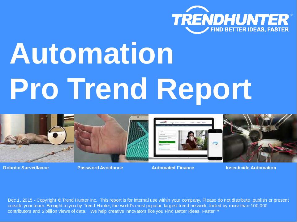 Automation Trend Report Research