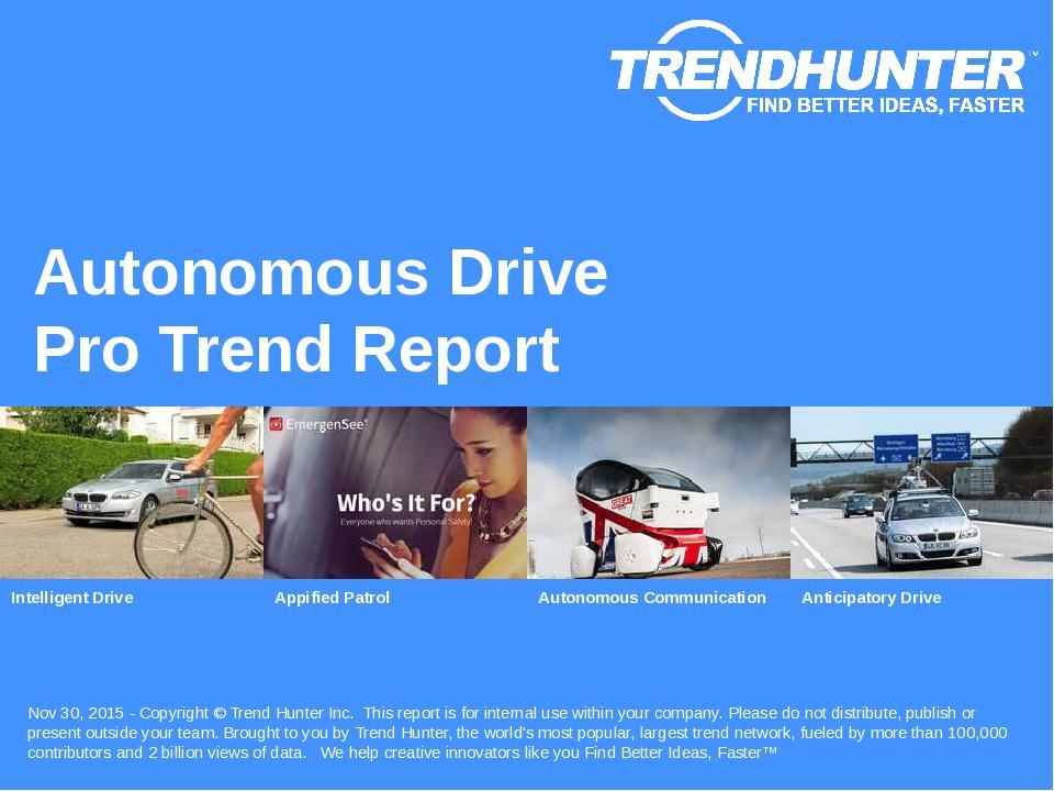 Autonomous Drive Trend Report Research