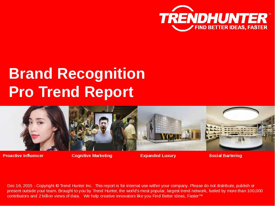 Brand Recognition Trend Report Research