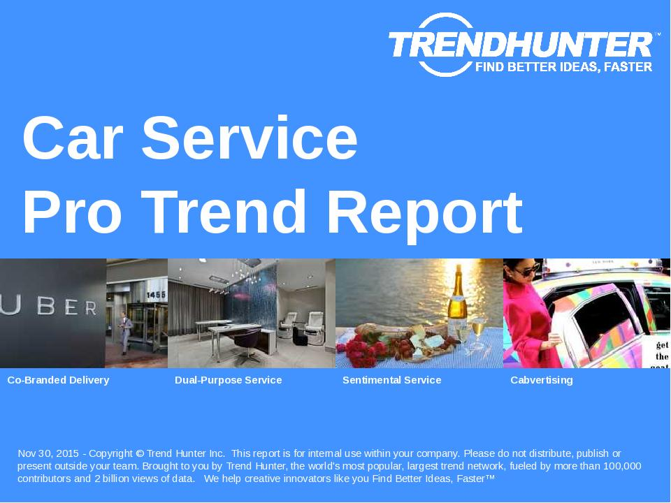 Car Service Trend Report Research