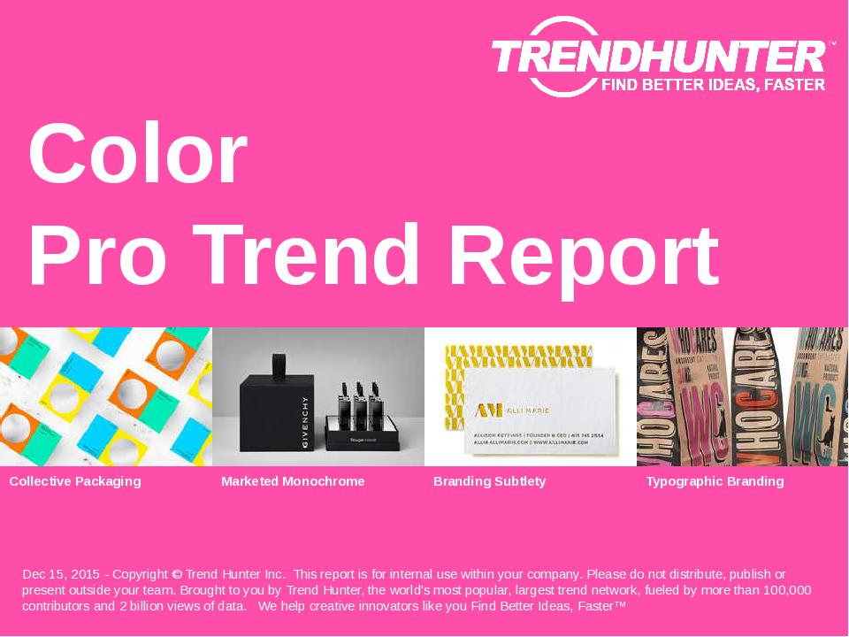 Color Trend Report Research