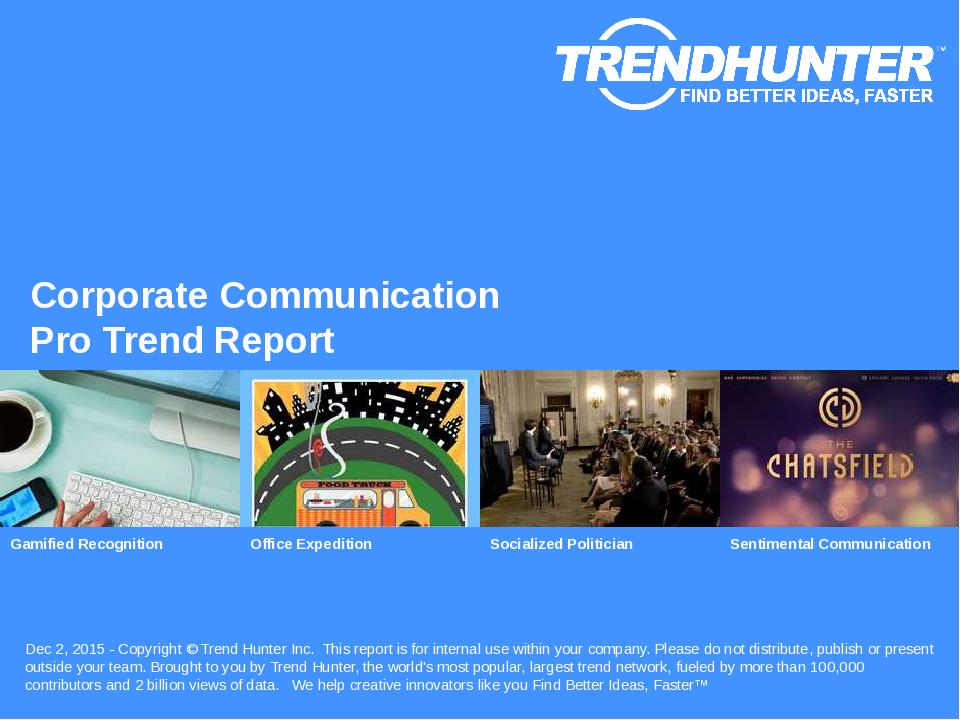 Corporate Communication Trend Report Research