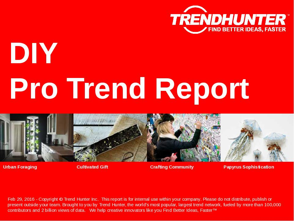 DIY Trend Report Research