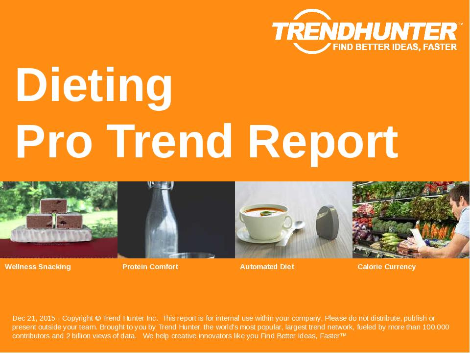 Dieting Trend Report Research